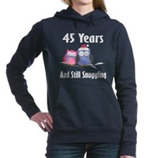 45th Anniversary Snuggling Owls Hooded Sweatshirt