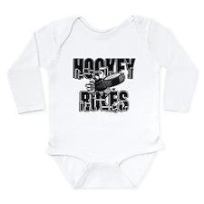Hockey Rules Long Sleeve Infant Bodysuit