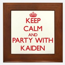 Keep Calm and Party with Kaiden Framed Tile