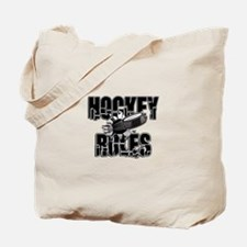 Hockey Rules Tote Bag