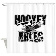 Hockey Rules Shower Curtain