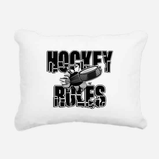 Hockey Rules Rectangular Canvas Pillow