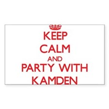 Keep Calm and Party with Kamden Decal