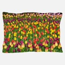 Colorful spring tulips garden Pillow Case