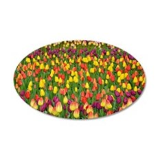 Colorful spring tulips garde Wall Decal