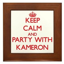 Keep Calm and Party with Kameron Framed Tile
