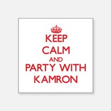 Keep Calm and Party with Kamron Sticker