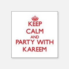 Keep Calm and Party with Kareem Sticker