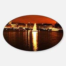 Christmas Tree on the Alster Sticker (Oval)