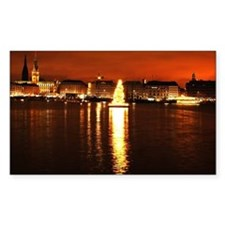 Christmas Tree on the Alster Decal