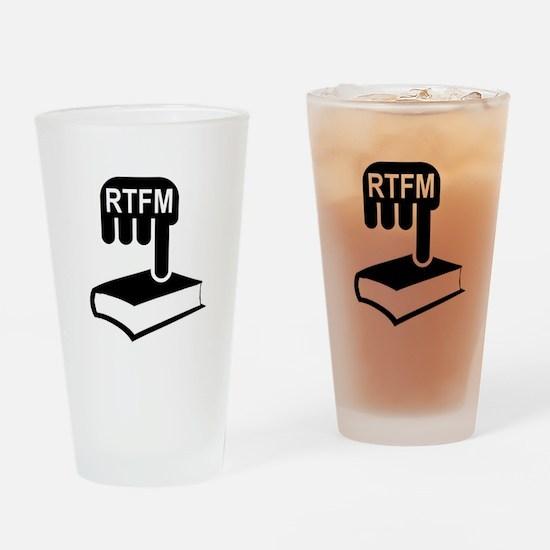 RTFM Drinking Glass