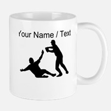 Custom Baseball Double Play Silhouette Mugs