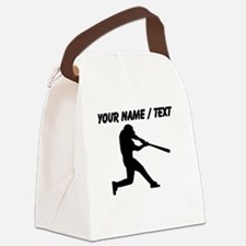 Custom Baseball Batter Silhouette Canvas Lunch Bag