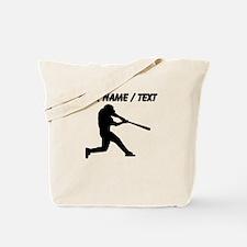 Custom Baseball Batter Silhouette Tote Bag