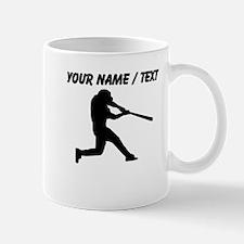 Custom Baseball Batter Silhouette Mugs