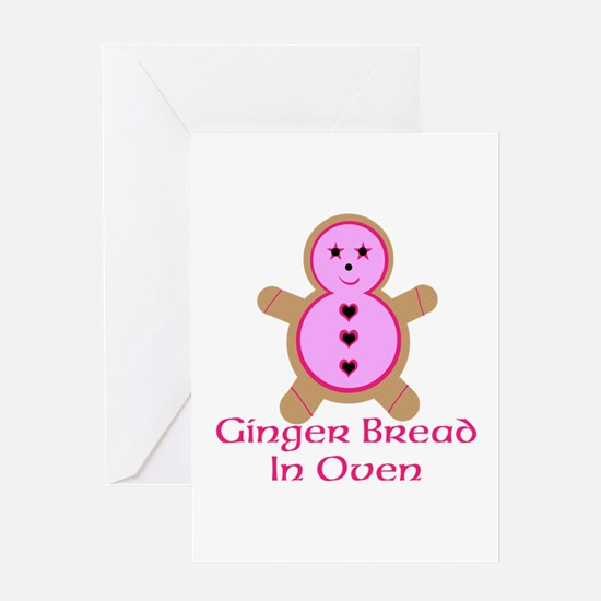 Ginger Bread In Oven Greeting Card