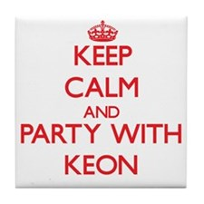 Keep Calm and Party with Keon Tile Coaster