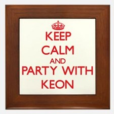 Keep Calm and Party with Keon Framed Tile