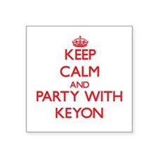 Keep Calm and Party with Keyon Sticker
