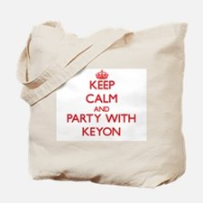 Keep Calm and Party with Keyon Tote Bag