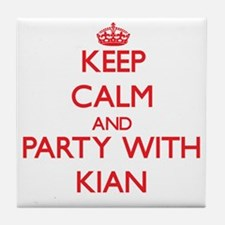 Keep Calm and Party with Kian Tile Coaster
