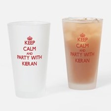 Keep Calm and Party with Kieran Drinking Glass