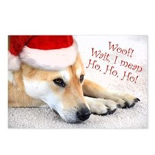 Funny Cute Santa Dog Postcards (Package of 8)
