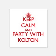 Keep Calm and Party with Kolton Sticker