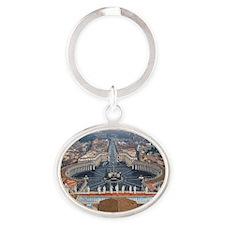 St. Peter's Basilica Oval Keychain