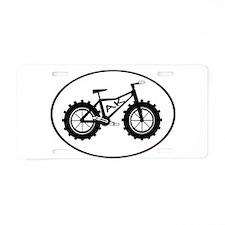 fatbike AK black Aluminum License Plate