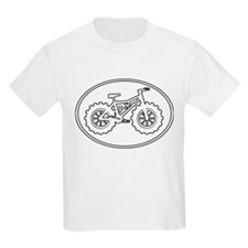 Fatbike AK white with black outline T-Shirt