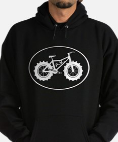 Fatbike AK white with black outline Hoody