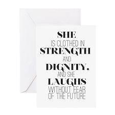 Strength Plain Greeting Cards