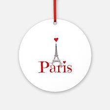 I love Paris Round Ornament