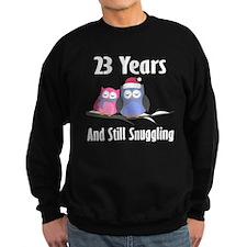 23rd Anniversary Snuggling Owls Sweatshirt