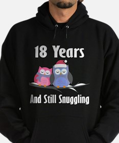 18th Anniversary Snuggling Owls Hoodie (dark)
