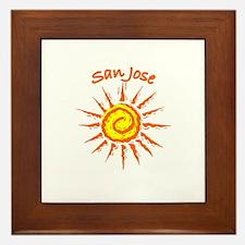 San Jose, California Framed Tile