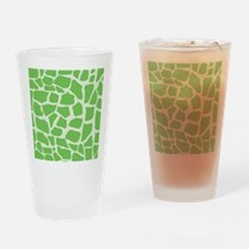 Green Giraffe pattern Drinking Glass