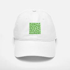 Green Giraffe pattern Baseball Baseball Baseball Cap