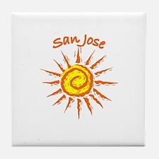San Jose, California Tile Coaster