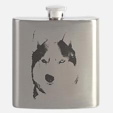 Siberian Husky Flask Malamute Sled Dog Flask