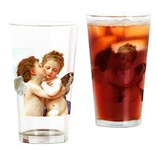 Cupids Kiss by Bouguereau Drinking Glass