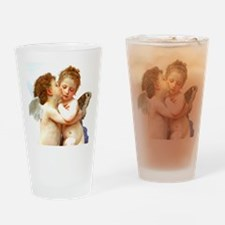 Cupids Kiss by Bouguereau Drinking Glass