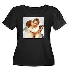 Cupids Kiss by Bouguereau Plus Size T-Shirt