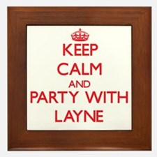 Keep Calm and Party with Layne Framed Tile