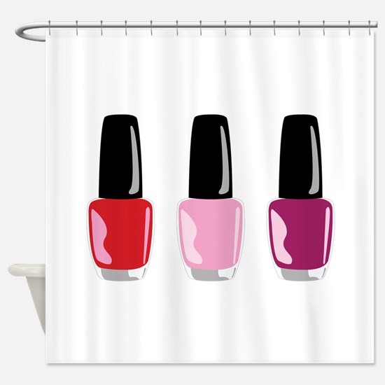 Nail Polish Shower Curtain