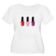 Nail Polish Plus Size T-Shirt