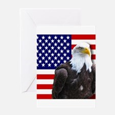 American flag eagle Greeting Cards