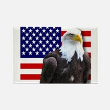 American flag eagle Magnets