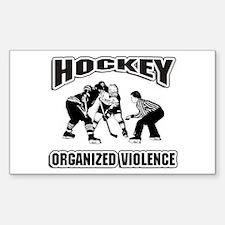 Hockey Organized Violence Sticker (Rectangle)